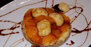 Biscuit de naranja con crema
