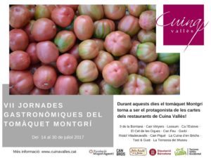 VII Jornades Gastronòmiques del Tomaquet Montgrí @ Vallès Occidental
