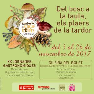 XX Jornades Gastronomiques - Tardor de caça i bolets de Terrassa @ Terrassa