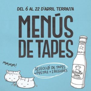 Menú de Tapes en Terrassa @ Terrassa | Tarrasa | Cataluña | España