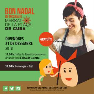 Taller Decoración Galletas Navidad @ Mercat de la Plaça de Cuba