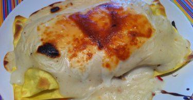 Lasagna de pollo con verduras