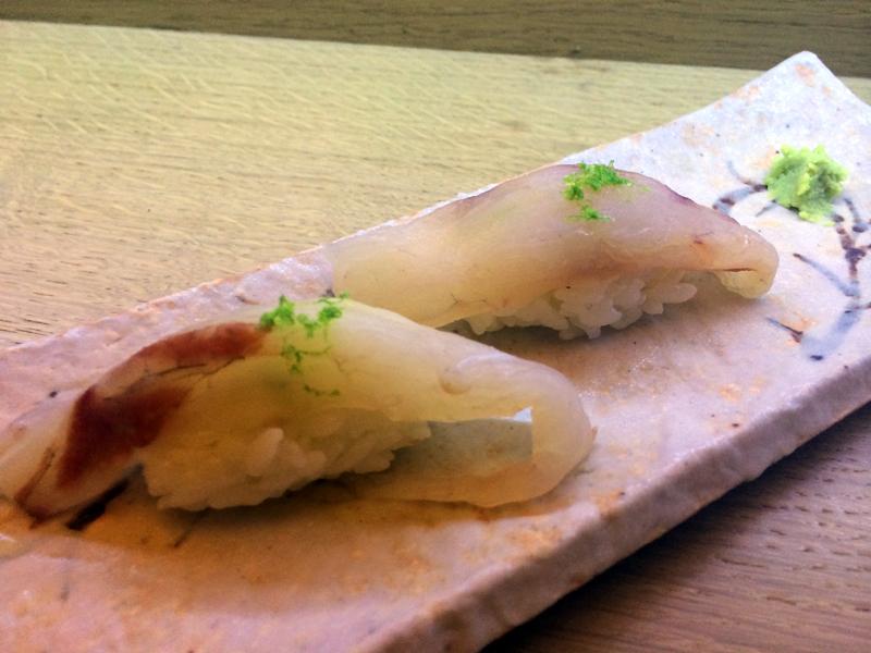 Sushi de corbina