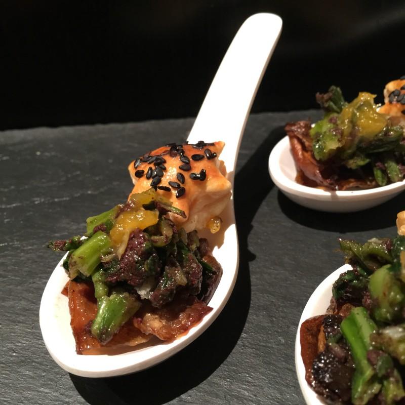 Espigalls con paté de olivas negras y boletus (en breve en el blog!!)