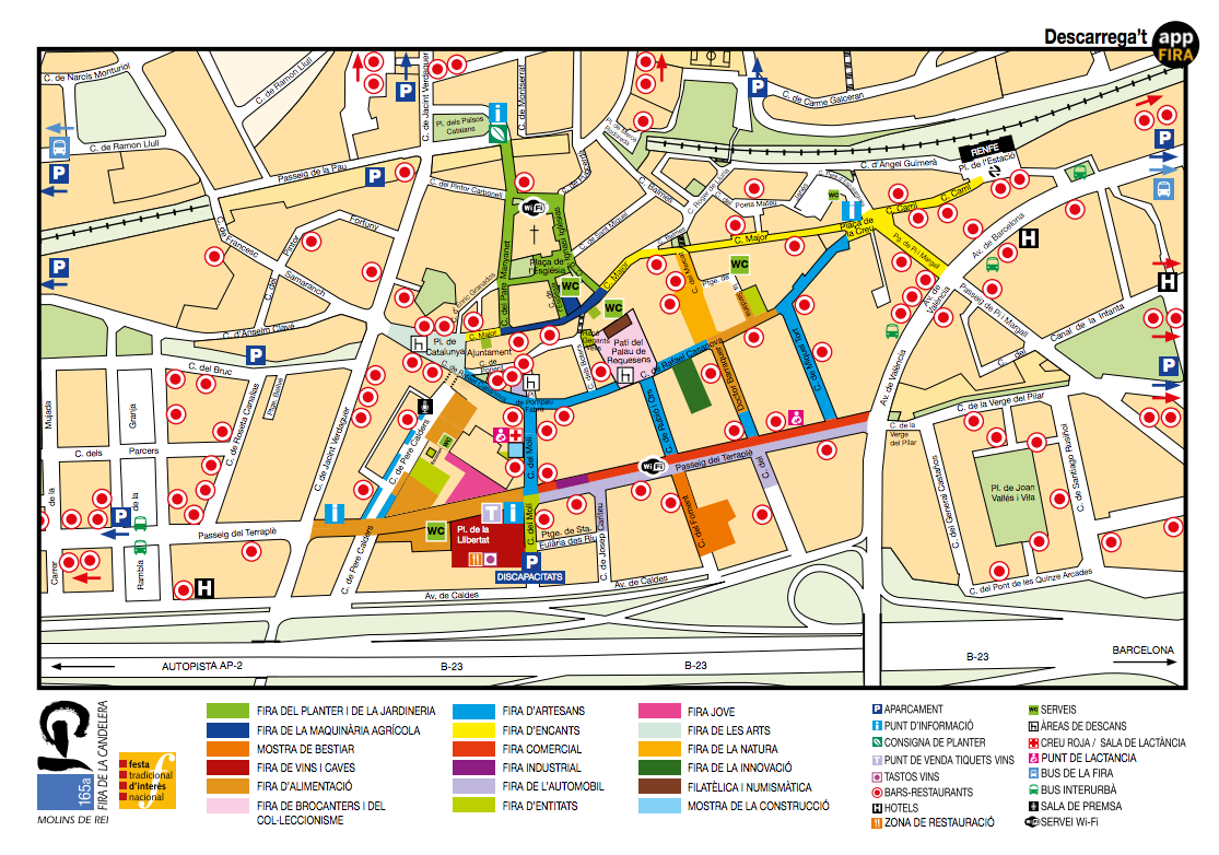 Mapa Molins De Rei.Llega La 166a Fira De La Candelera De Molins De Rei Flavorcook