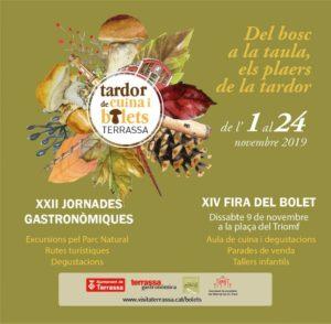XXII Jornades Gastronòmiques 'Tardor de cuina i bolets' de Terrassa @ Terrassa